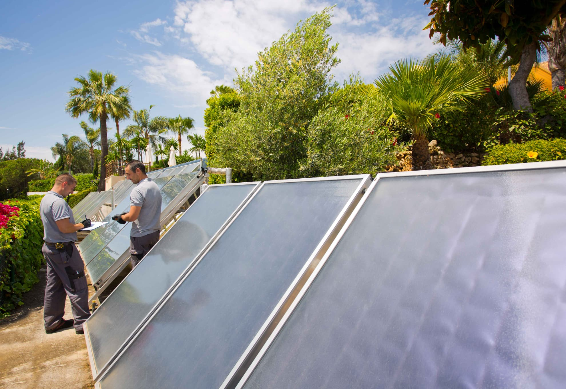 Data taking of thermal solar installation